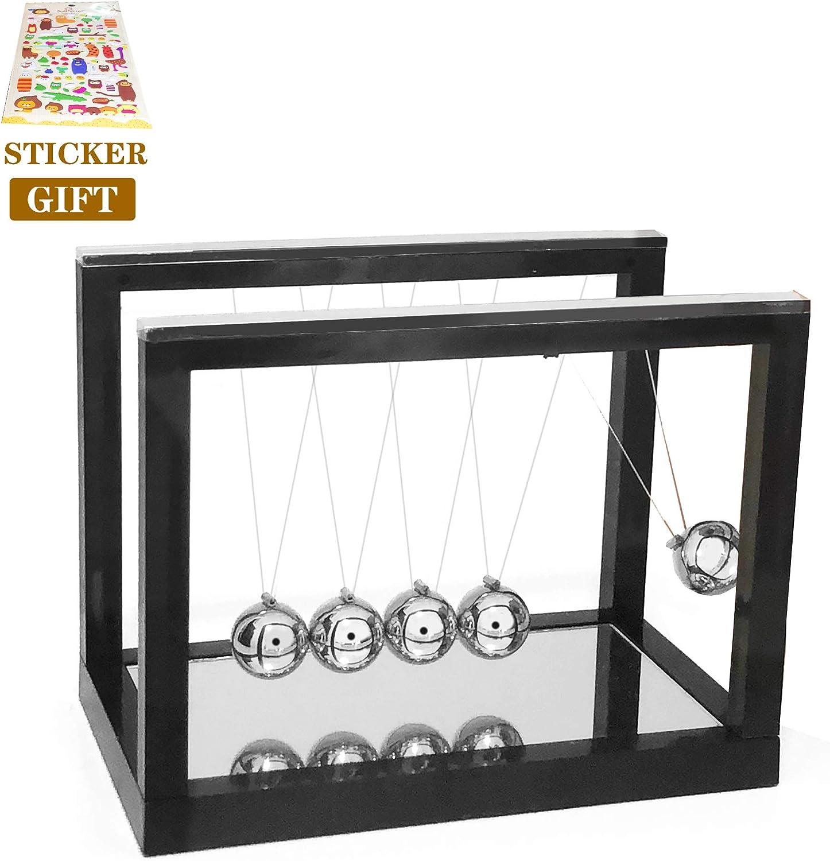 Newtons Cradle,Newtons Cradle,Newton`s Cradle Balance Balls for Kids Adults Desk Toy Office (Black)