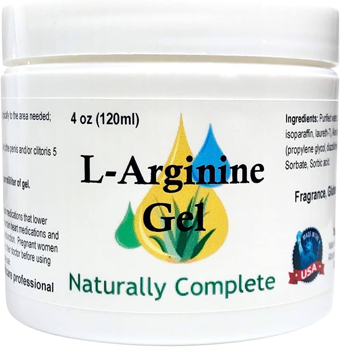 Naturally Complete L-Arginine 4 oz Jar | Also in 2 oz Jar | Non-GMO | Unscented | for Men and Women | Made in The USA