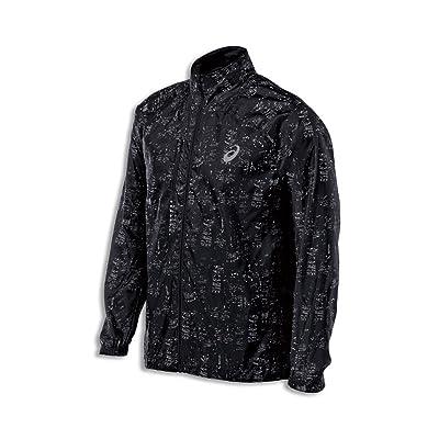 .com : ASICS Men's Performance Run Lightweight Jacket, Skyline Performance Black, Small : Clothing