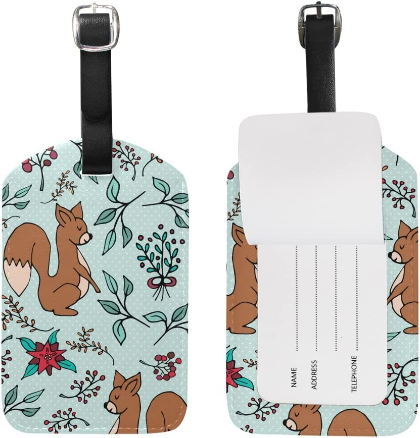 Squirrel Pattern Cruise Luggage Tag For Suitcase Bag Accessories 2 Pack Luggage Tags