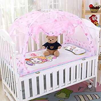 CdyBox Zippered Baby Toddler Nursery Crib Bed Canopy Mongolia Pack Foldable Mosquito Net Tent with Stand  sc 1 st  Amazon.com & Amazon.com : CdyBox Zippered Baby Toddler Nursery Crib Bed Canopy ...