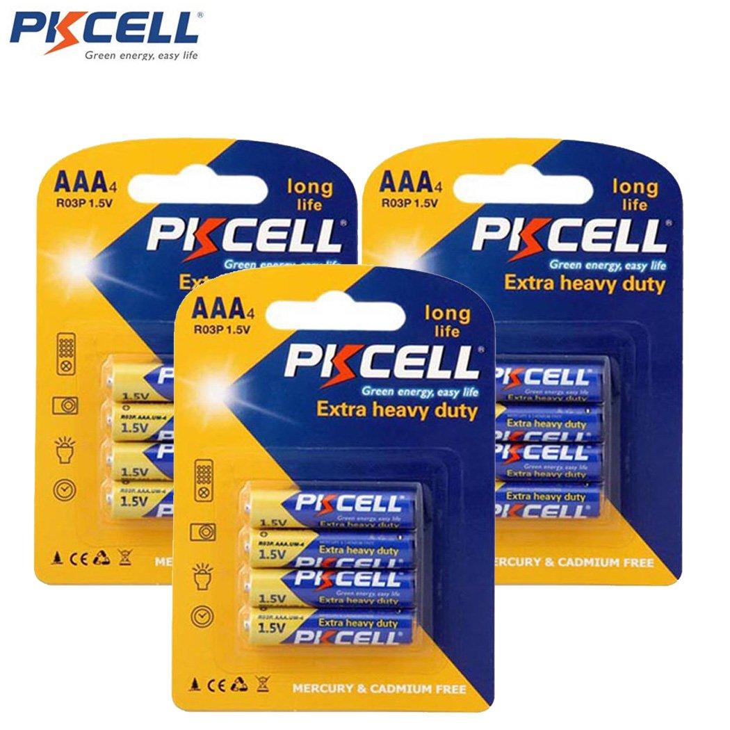 AAA 3A UM4 AM4 R03P MN2400 E92 Zinc Chloride Batteries (12pc 3cards)