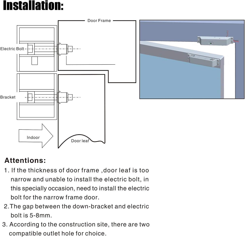 Fail-safe Electric Drop Bolt Lock For Narrow Door Access Control System Home Improvement