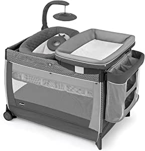 Chicco Cuna Lullaby Glow Playard Silhouette, color Gris