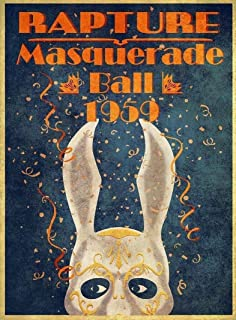 d5b1b2724f89 Big mart collection Rare Poster Rapture Bioshock Masquerade Video Game  giclee 12x18inch