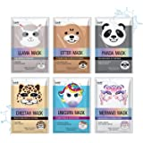 Epielle Character Sheet Masks | Animal Spa Mask | -For All Skin Types |spa gifts for women, Spa Gift, Birthday Party Gift for