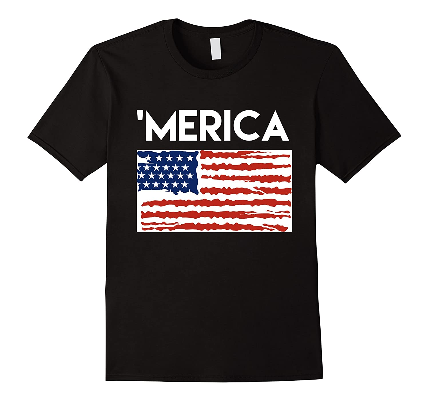 'Merica TShirt (with Flag) - Awesome 4th of July TShirts-TH