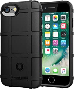 iPhone SE 2 Gen case, iPhone 8 case, iPhone 7 case, LABILUS (Rugged Shield Series) TPU Thick Solid Armor Tactical Protective Cover Case for iPhone SE 2020, iPhone 8/7 (4.7 inch) - Dark Black…