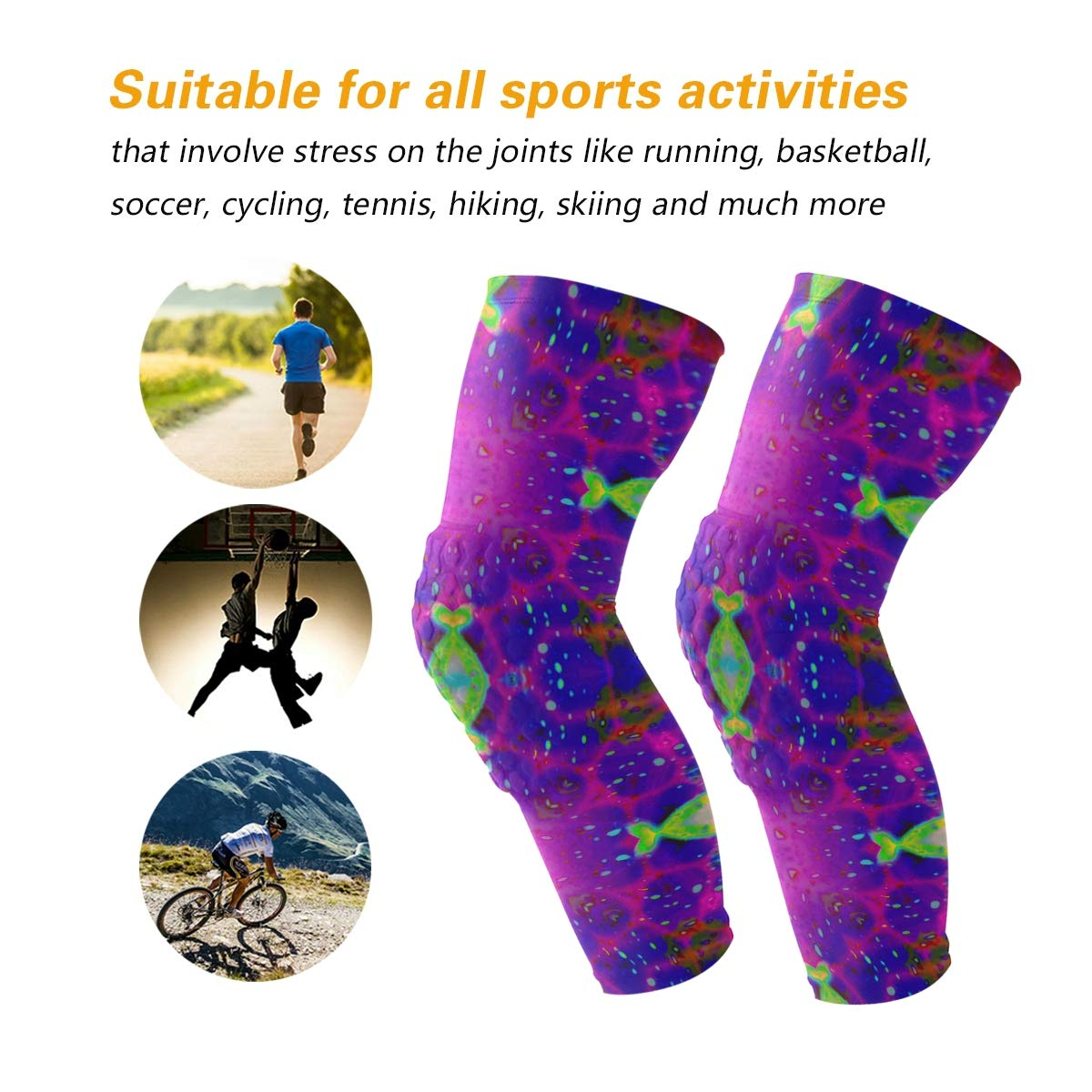 Amazoncom Psychedelic Trippy Galaxy Knee Pads For Football All