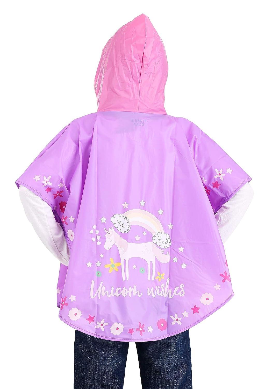 Floss /& Rock Magic Color Change Poncho Giacca impermeabile per bambini e bambine