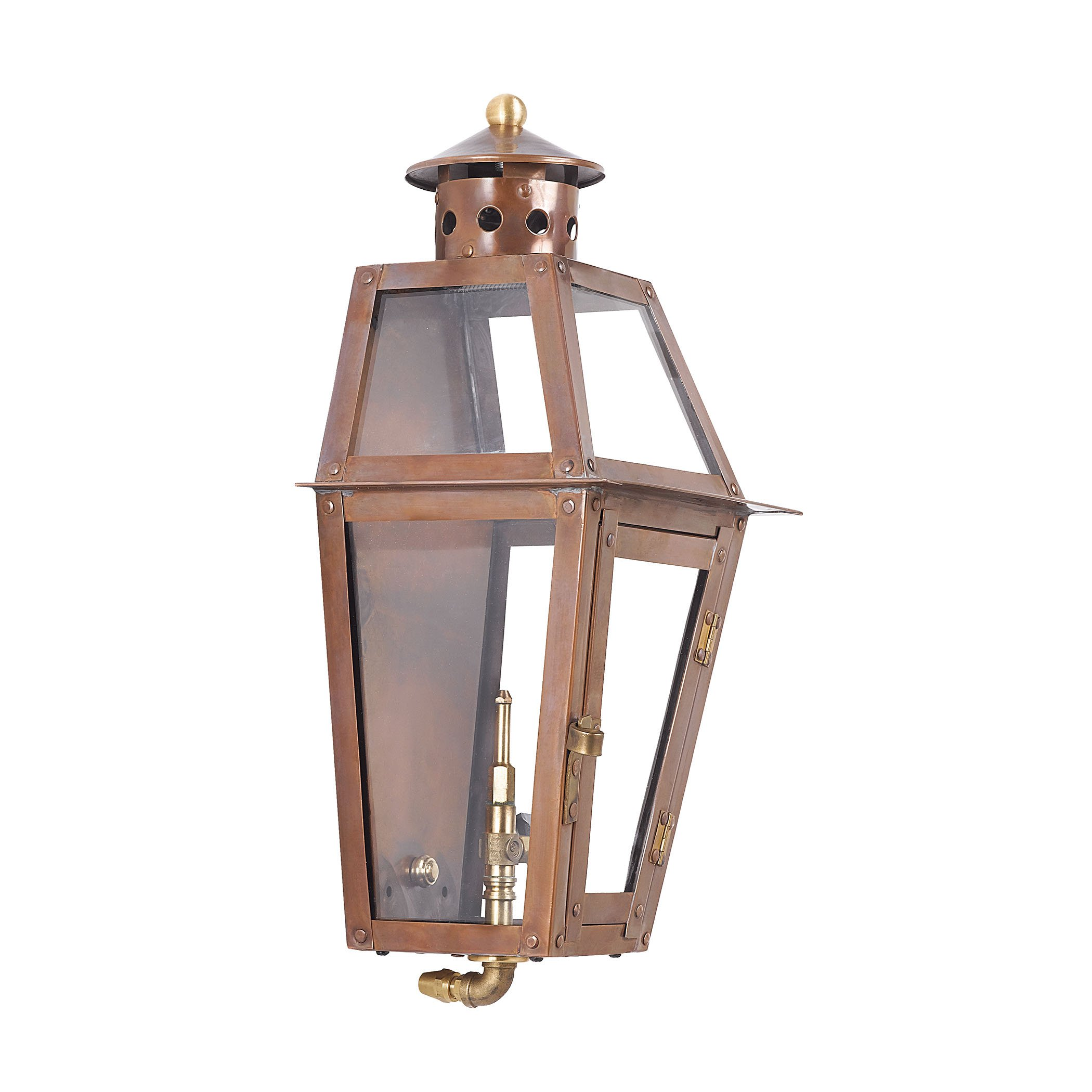 Elk Lighting Grande Isle Outdoor Gas Wall Lantern in Aged Copper by ELK Lighting