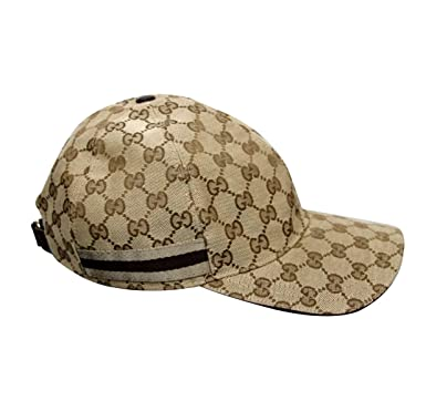 c2aad4e2f3c Gucci Men s Cotton Blend Gg Canvas Web Baseball Hat Cap X-Large Beige