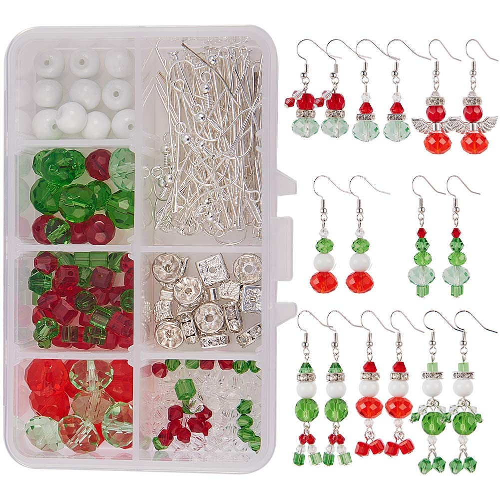 25 Guardian angel charms Making Kit Beads Wings RHINESTONES head pins