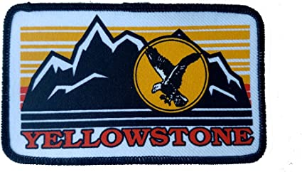 Yellowstone Wyoming  Embroidered Patch 3x5  Iron On National Park