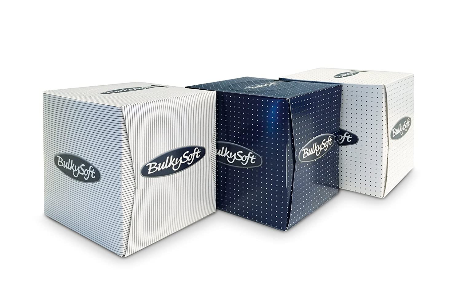 Bulky Soft Box of Facial Tissues Cube, Bright White, 2 Ply, Pack of 90 Carrara BS-68360