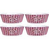 "Popcorn Serving Bowl Set of 4 - Large Size 10"" X 4.75""- Popcorn Tub"