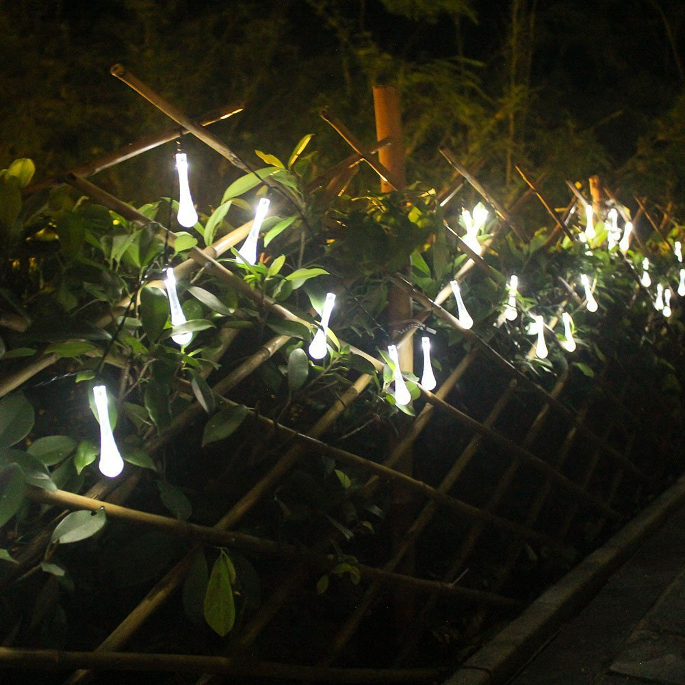 Mayoya Solar Powered String Lights 30 LED 20 Ft Outdoor Solar String Lights Waterproof Decorative Lightings for Home Patio Garden Lawn Yard Party Wedding (White) by Mayoya (Image #3)