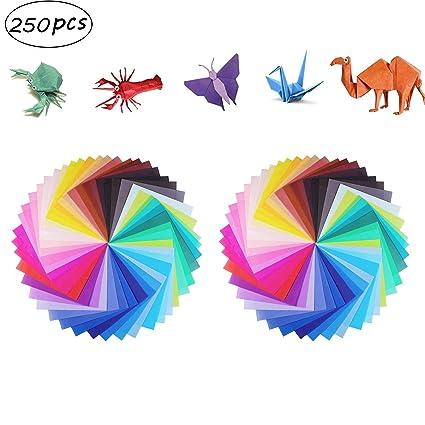 Manualidades de Origami con Papel Para Niños, 250 hojas 50 ...
