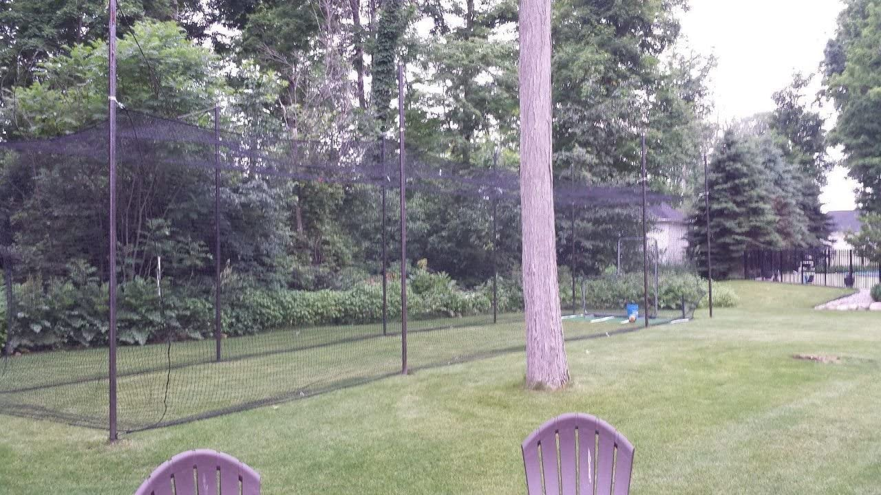 Backyard Baseball Batting Cage Net Netting 27 Ply HDPE