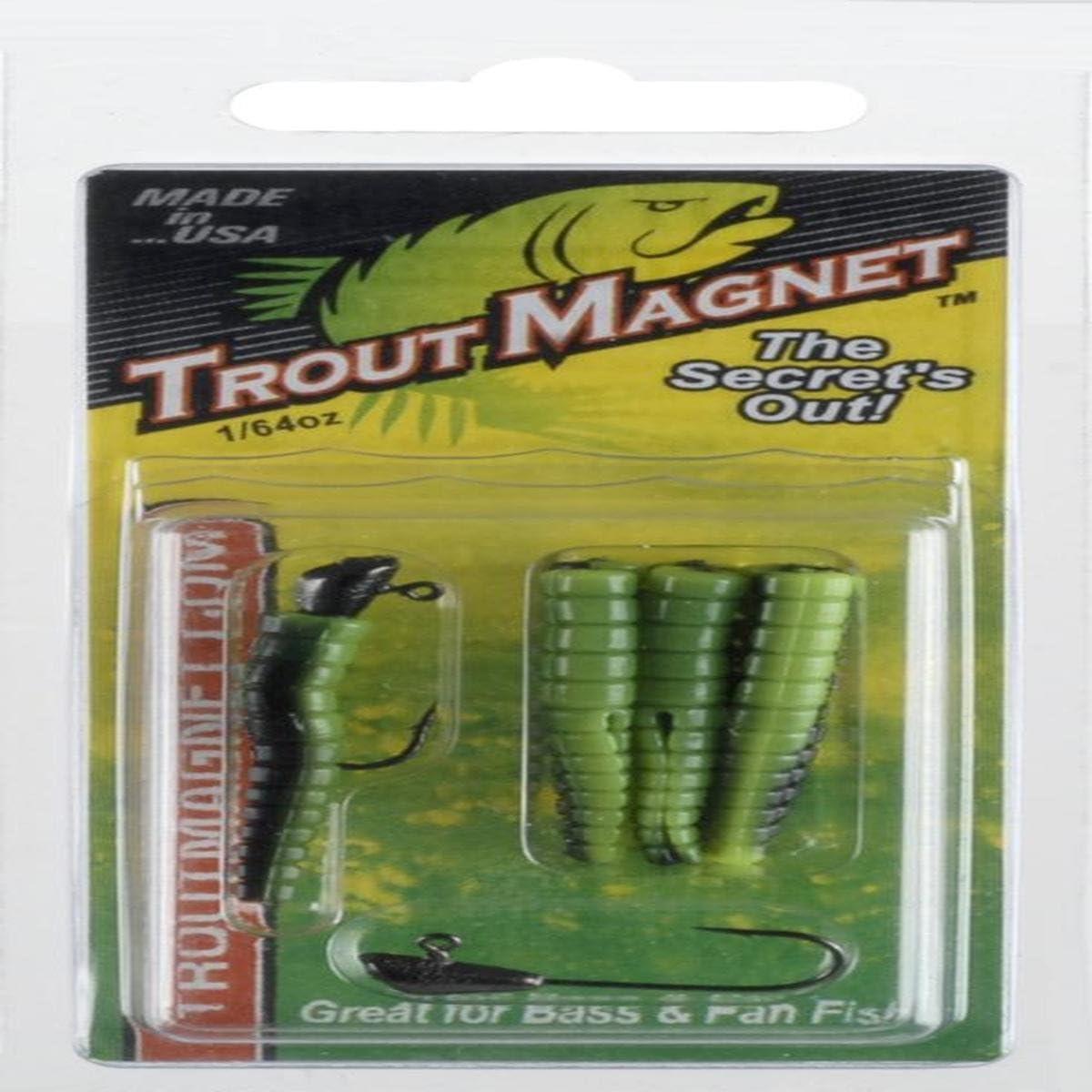 Orange Finish Leland Lures 87321 Trout Magnet Hard Bait