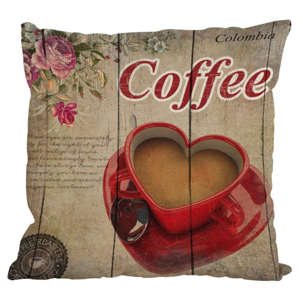 Amazon.com: LSS Trading Scandinavian Style Coffee Cushion Cover ...