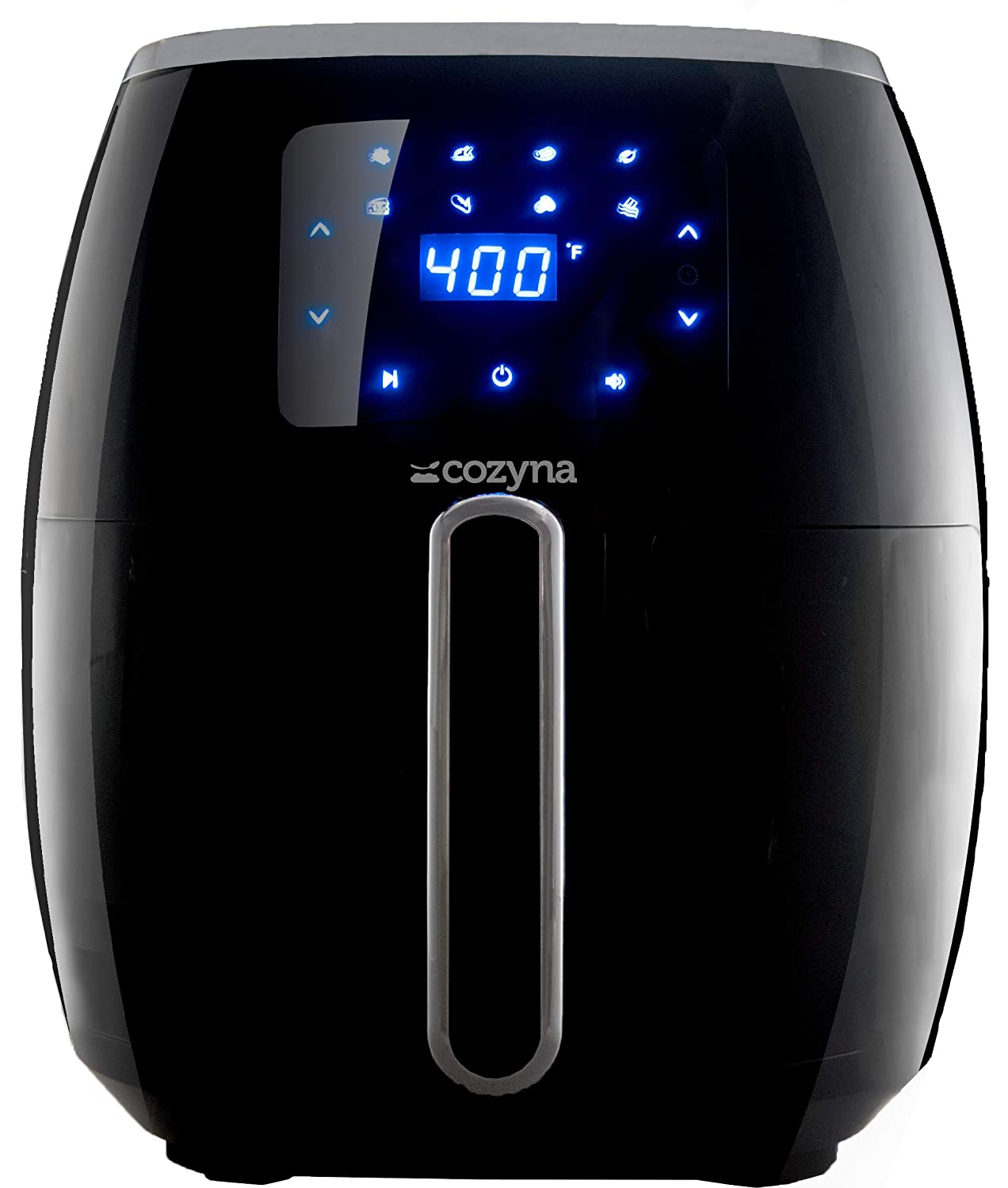 Air Fryer XL Touchscreen by Cozyna (5.7QT) with 8 Cooking Preset and airfryer cookbook (over 50 recipes)