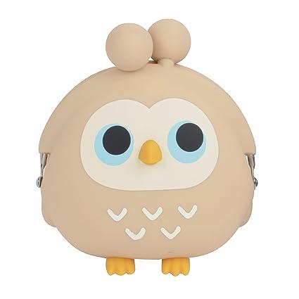 b4afca6c7286 3D Pochi Friends Owl Silicone Coin Purse (Beige)