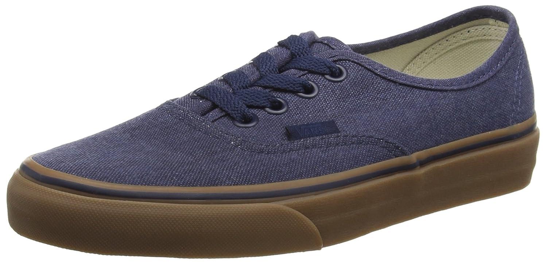 Vans VEE3NVY Unisex Authentic Shoes B0198EKBYS 9.5 M US Women / 8 M US Men|(Washed Canvas) Dress Blues/Gum