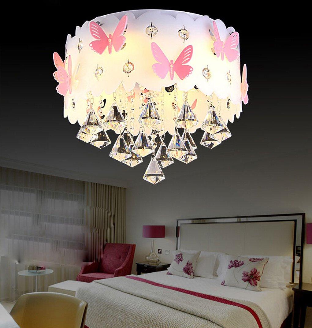 Lvyi Schlafzimmerlampe Mädchen Blau Lampe Kinderlampe