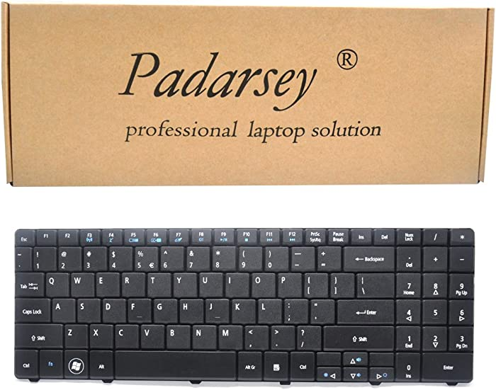 Padarsey Replacement Keyboard Compatible for ACER Aspire 5516 5517 5532 5534 5732 7315 7715 5241 5541 5541G 5732G 5334 5734 Emachines E525 E625 E627 E725 E527 E727 PK130CK2A10 Series Black US Layout