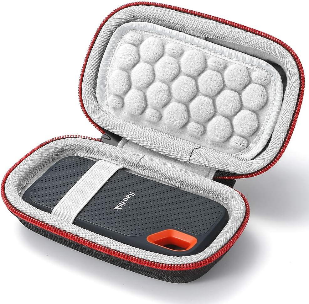 L3 Tech Estuche rígido para SanDisk SSD portátil SDSSDE60 de 250GB / 500GB / 1TB / 2TB, Bolsa de Almacenamiento portátil: Amazon.es: Electrónica
