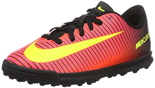 half off dafc4 e4a55 Nike Mercurialx Vortex Iii Tf, Unisex Kids  Footbal Shoes, Red (Total  Crimson