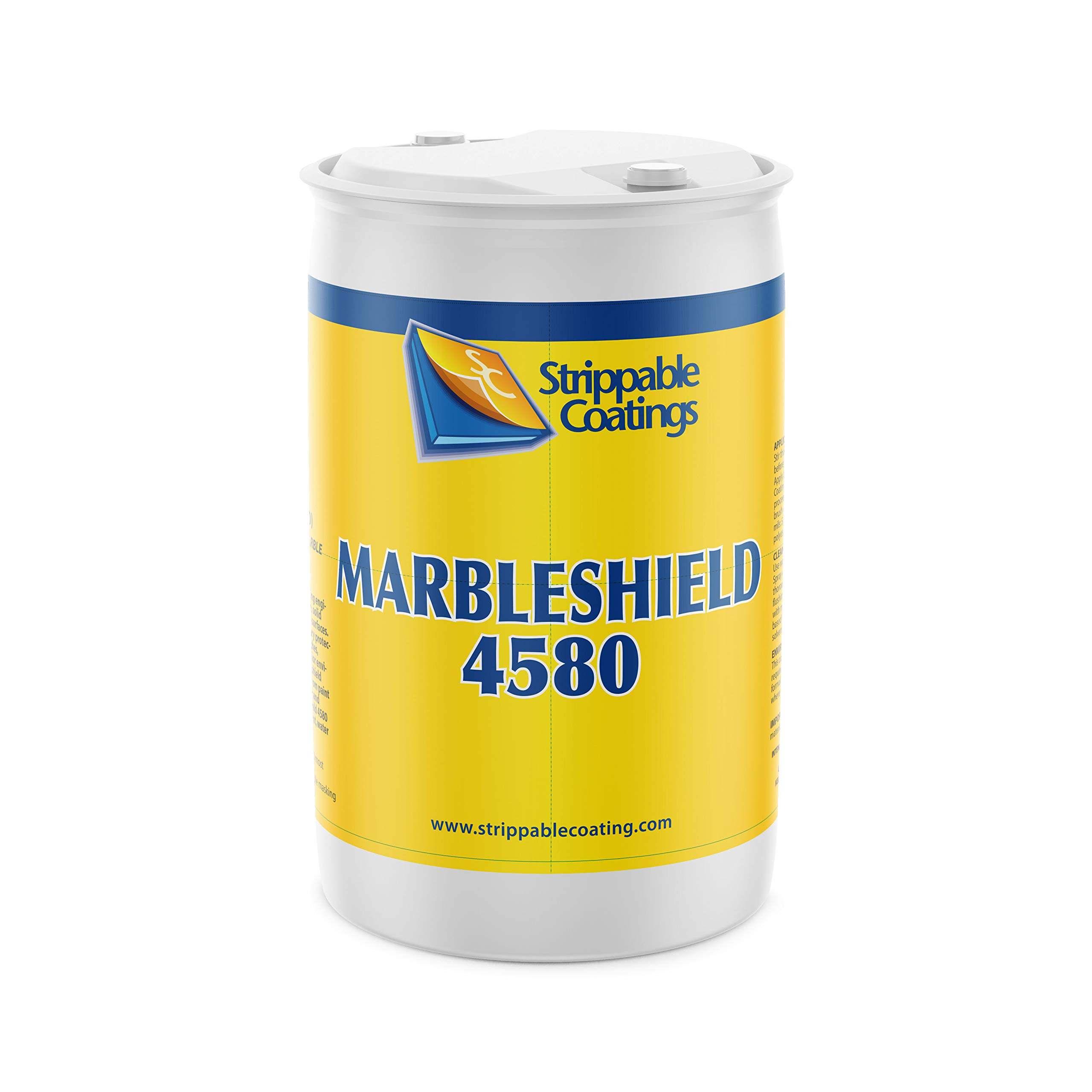 Strippable Coatings Marbleshield 4580-Peelable Protective Temporary Water Resistant Marble Coating-Safe for Granite, Enamel, Metal, Glass & Acrylic-55Gal by Strippable Coatings