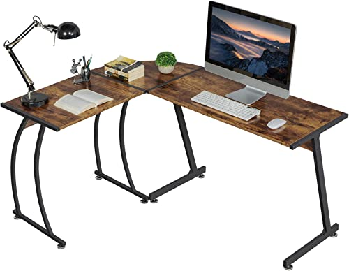 Topeakmart L-Shape Corner Computer Desk PC Laptop Study Table