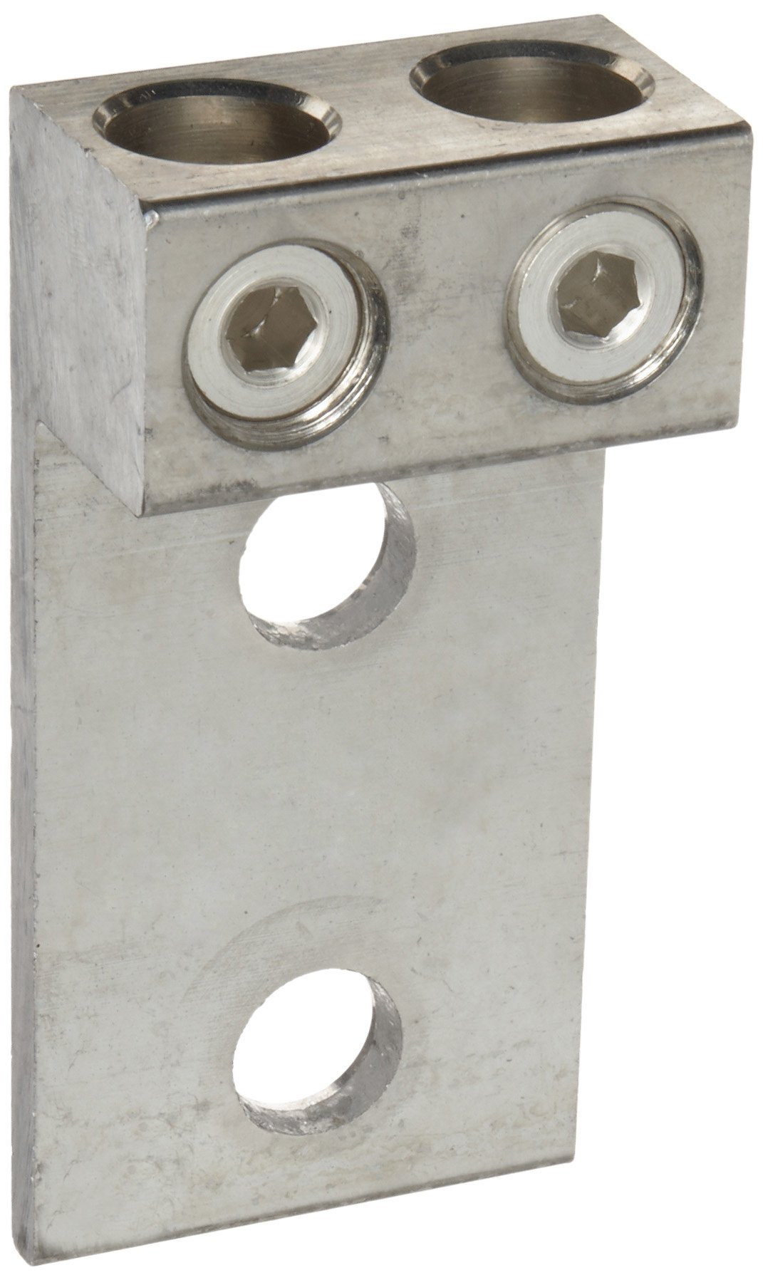 Morris Products 90841 Mechanical Lug, Two Conductors, Two Hole Mount, Aluminum, 300 AWG, 300mcm - 6SOL. Wire Range