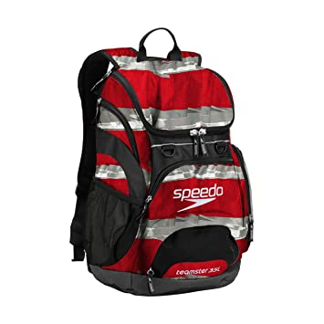 73f68e62d1e Amazon.com: Speedo Teamster Backpack 35L Setting Sun Red: Metro Swim ...