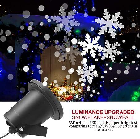 Proyector Navidad LED Nieve Luz del Proyector con Control Remoto ...
