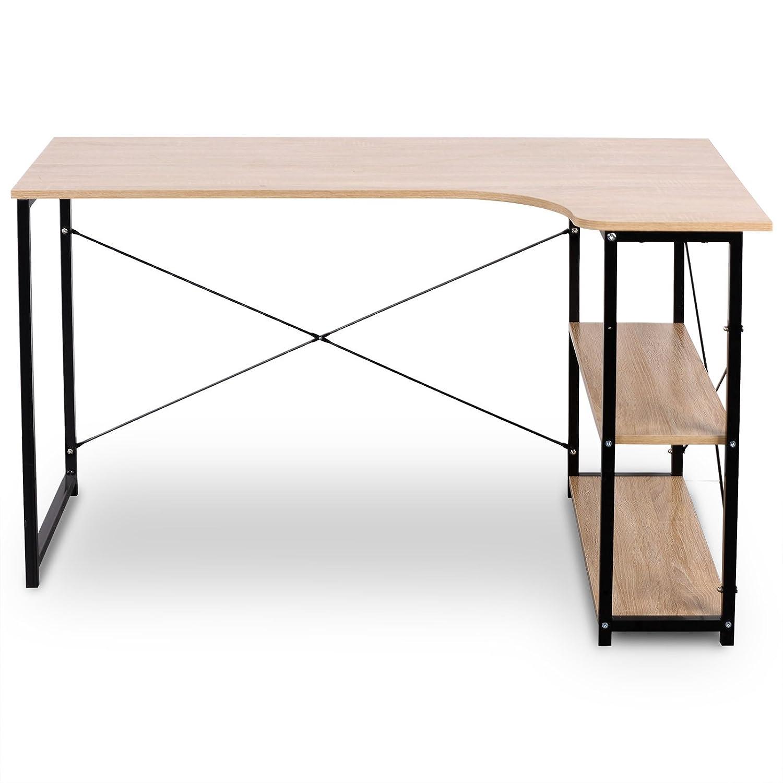 L Shaped Corner Desk Computer Workstation Home Office: Industrial Style Corner Desk L-Shaped Workstation Home