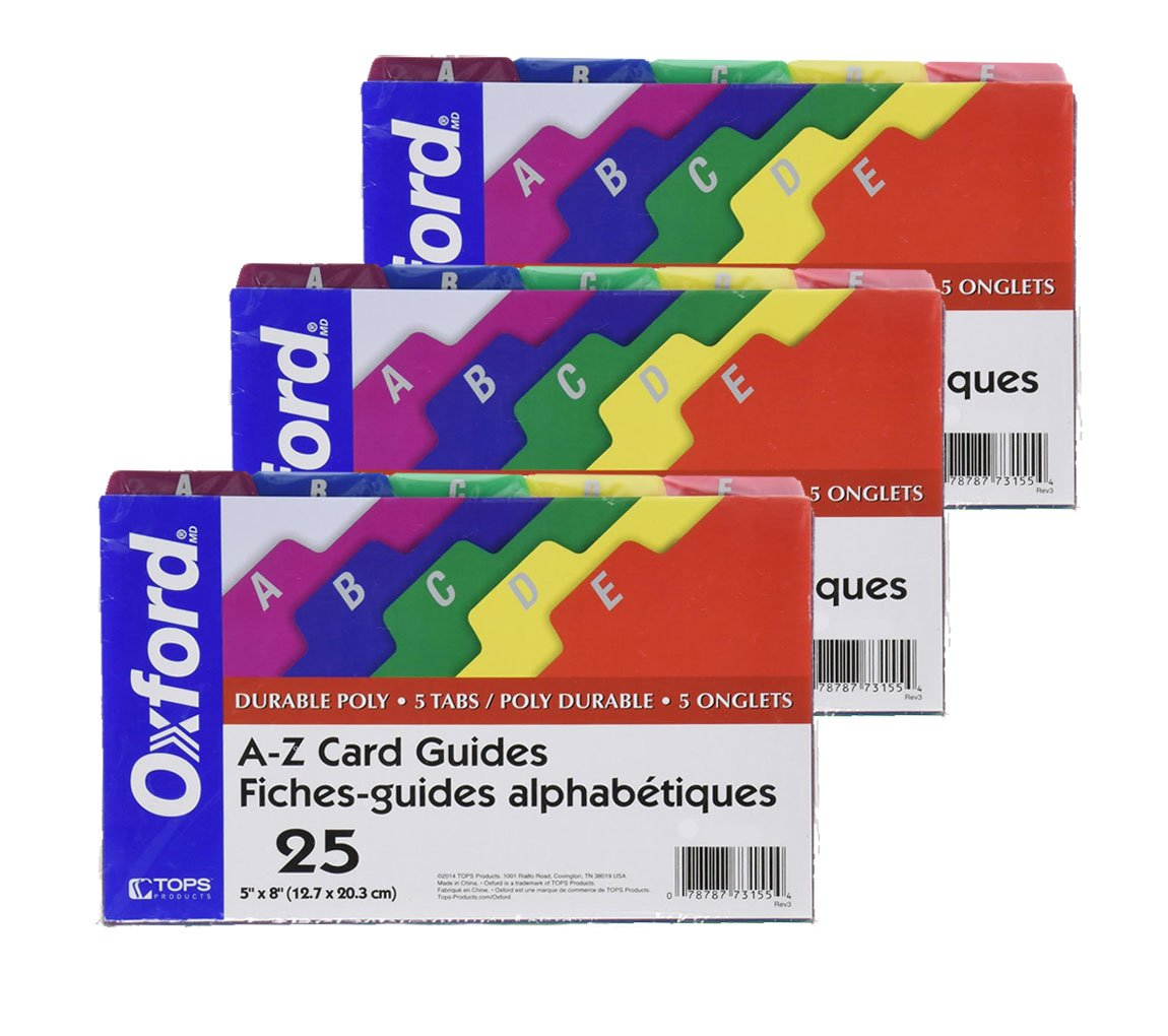 Oxford Poly Index Card