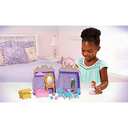 Amazon Com Disney Sofia The First Bedroom Castle Case Toys Games