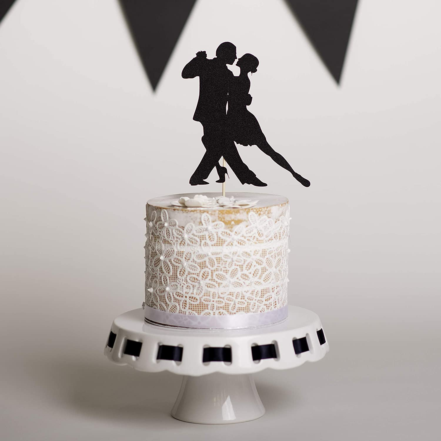 Excellent Salsa Dancing Cake Topper Couple Dancing Cake Topper Amazon Co Uk Personalised Birthday Cards Cominlily Jamesorg