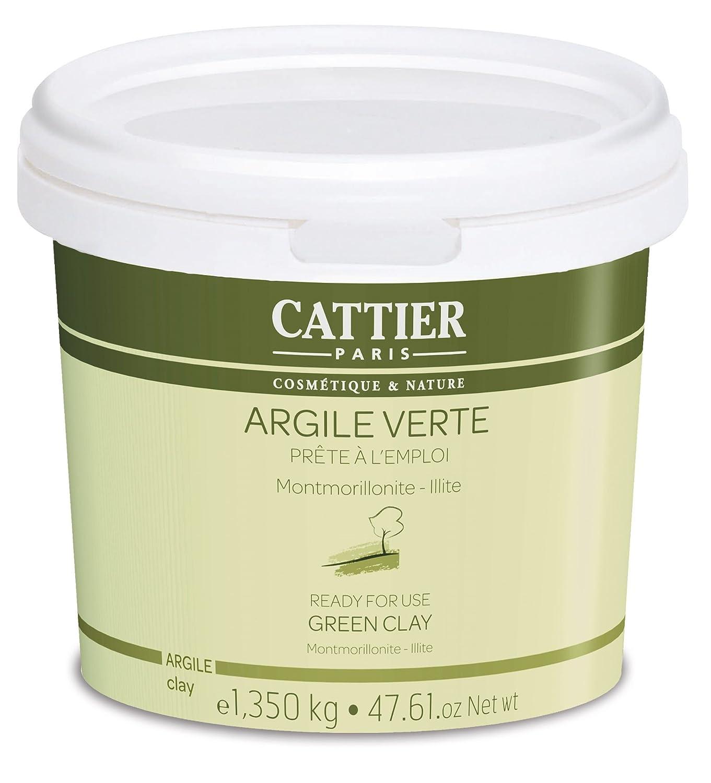 Cattier Arcilla Verde lista para su uso cubo - 1, 350 kg Laboratoire Cattier CAT005