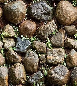 "Yancorp Self-Adhesive Stone Wallpaper Brick Contact Paper Fireplace Kitchen Backsplash Peel-Stick Wall Stickers Door Sticker Counter Top Liners (18""x120"", Stone)"