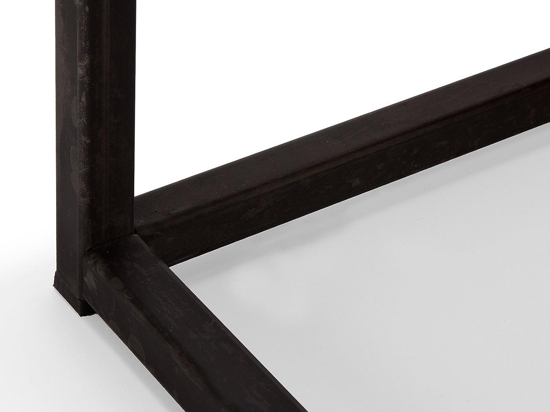 Massivum Couchtisch Couchtisch Couchtisch Barkley 90x38x90 cm aus unbehandeltem Teak-Holz braun und schwarz lackiertem Metall c64001