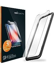 vau Glas kompatibel mit iPhone XR, iPhone 11 - Panzerglas Pro Schutzfolie 3 x Folie Vorne + Installationswerkzeug Displayschutzfolie Front (kompatibel zu Apple iPhone 10r / XI 6.1 LCD)