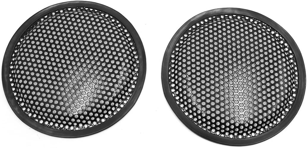2 Pack Uxcell a17122900ux0009 2pcs 6 Car Waffle Speaker Mesh Cover Subwoofer Protector Enclosure Grill Guard