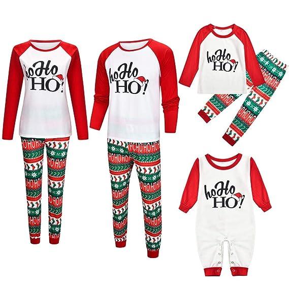 Fossen Kids Pijamas Navideños Familiares con Estampado de Cartas ...