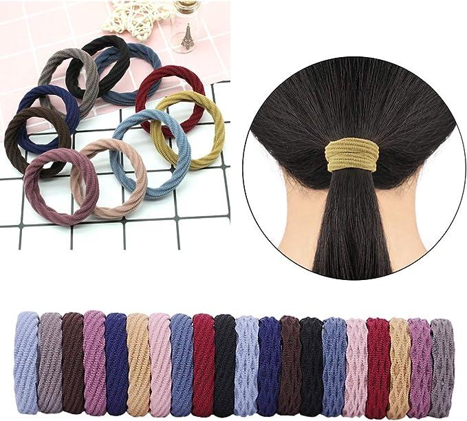 Bandas para el pelo sin costuras de algodón, lazos elásticos para ...