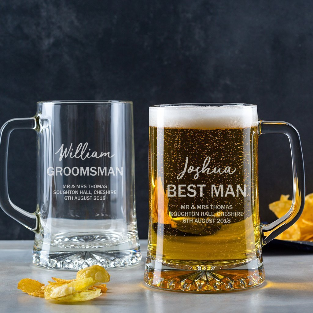 Personalized Pint Glasses/Peronalized Tankard Mug/Personalized Groomsmen Gifts/Best Man Gifts For Wedding/Father Of The Groom Or Bride Gifts