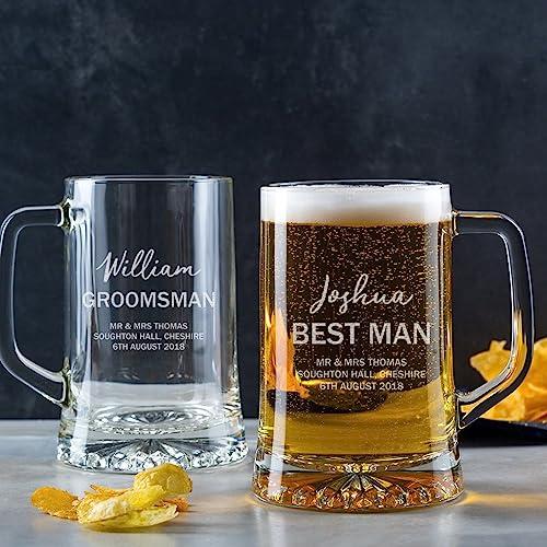 amazon com personalized pint glasses peronalized tankard mug